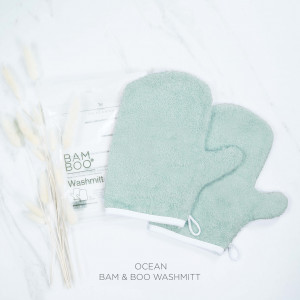 Bam & Boo Bamboo Washmitt Set Of 2 Ocean