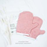 Bam & Boo Bamboo Washmitt Set Of 2 Powder Pink