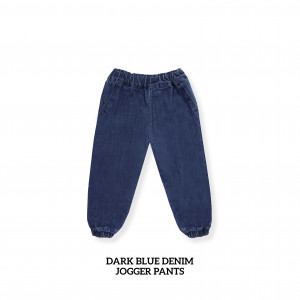 DARK BLUE Kids Denim Jogger