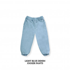 LIGHT BLUE Kids Denim Jogger