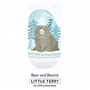 BEAR AND BUNNY LITTLE TERRY TOWEL