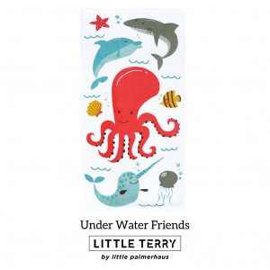 UNDER WATER FRIENDS LITTLE TERRY TOWEL
