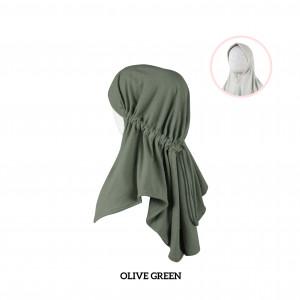 OLIVE GREEN Haifa Instant Hijab