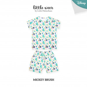 MICKEY BRUSH Little Wear Shoulder Button Short Sleeve