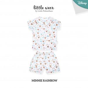 MINNIE RAINBOW Little Wear Shoulder Button Short Sleeve