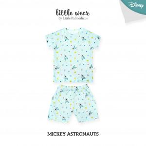 MICKEY ASTROUNAUTS Little Wear Shoulder Button Short Sleeve
