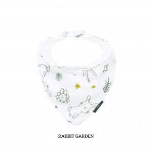 Rabbit Garden Bandana Bib