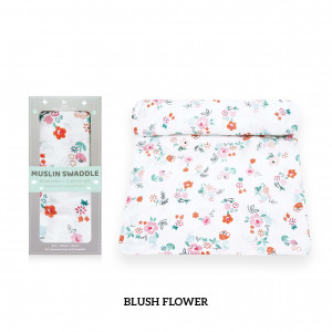 Blush Flower Muslin Swaddle