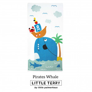 PIRATES WHALE LITTLE TERRY TOWEL