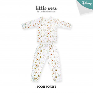 POOH FOREST Little Wear Shoulder Button Long Sleeve