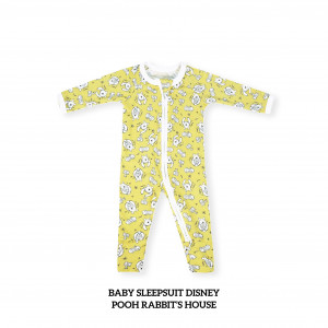 POOH RABBIT'S HOUSE Baby Sleepsuit Disney