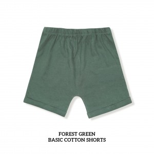 FOREST GREEN Basic Cotton Short