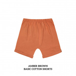 AMBER BROWN Basic Cotton Short