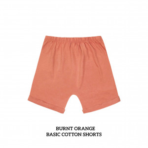 BURNT ORANGE Basic Cotton Short