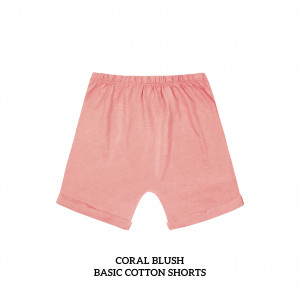 CORAL BLUSH Basic Cotton Short