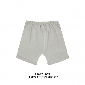 GRAY OWL Basic Cotton Short
