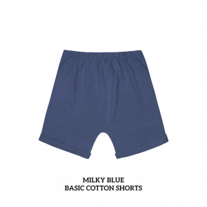 MILKY BLUE Basic Cotton Short