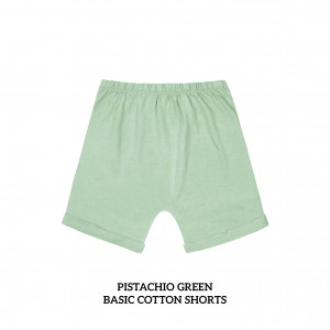 PISTACHIO GREEN Basic Cotton Short