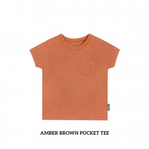 AMBER BROWN Pocket Tee