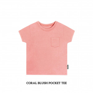 CORAL BLUSH Pocket Tee