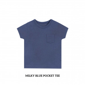 MILKY BLUE Pocket Tee
