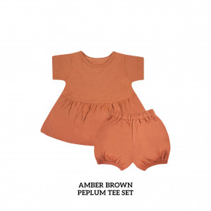 AMBER BROWN Peplum Set