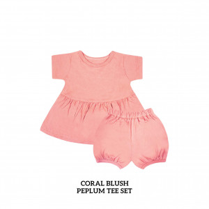 CORAL BLUSH Peplum Set