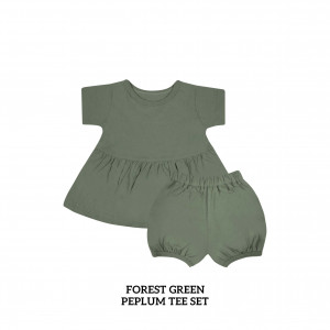 FOREST GREEN Peplum Set