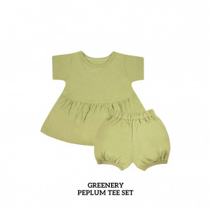 GREENERY Peplum Set