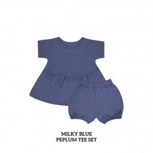 MILKY BLUE Peplum Set