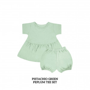PISTACHIO GREEN Peplum Set