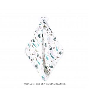 WHALE IN THE SEA HOODIE BLANKIE
