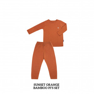 SUNSET ORANGE Bamboo Pjs Set
