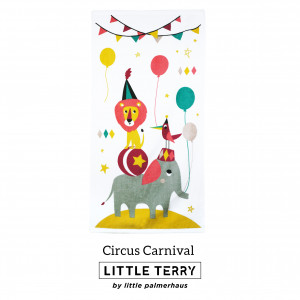 CIRCUS CARNIVAL LITTLE TERRY TOWEL