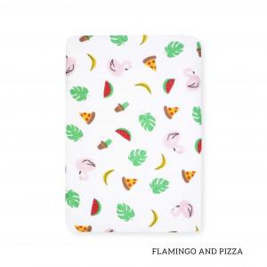 Flamingo And Pizza Tottori Baby Towel