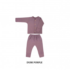 DUSK PURPLE Button Tee Long Sleeve