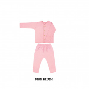 PINK BLUSH Button Tee Long Sleeve
