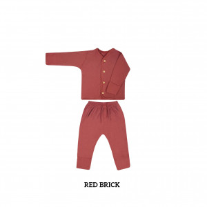 RED BRICK Button Tee Long Sleeve