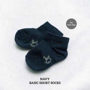 NAVY BASIC SHORT SOCKS NO ANTISLIP