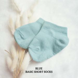 BLUE BASIC SHORT SOCKS WITH ANTISLIP