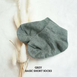 GREY BASIC SHORT SOCKS WITH ANTISLIP