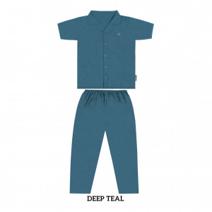 DEEP TEAL ROSE MOMS PJS SET