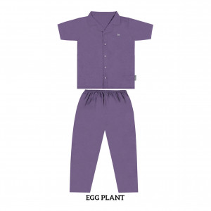 EGGPLANT MOMS PJS SET