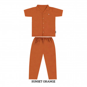 SUNSET ORANGE MOMS PJS SET