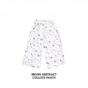 BRUSH ABSTRACT Cullote Pants