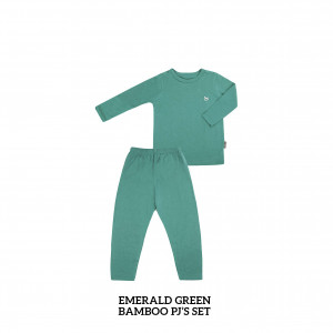 EMERALD GREEN Bamboo Pjs Set
