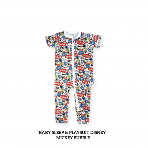 MICKEY BUBBLE Baby Sleep & Play Suit