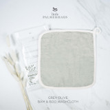 Bam & Boo Bamboo Washcloth Set Of 4 Grey Olive