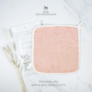 Bam & Boo Bamboo Washcloth Set Of 4 Peach Blush