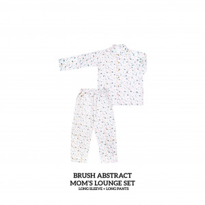 BRUSH ABSTRACT Mom's Lounge Wear Long Sleeve